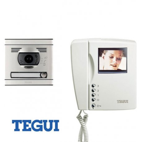 tegui kit videoportero color 2 hilos 1 linea monitor