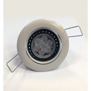 Kit Downlight LED 4W, Luz Blanco Frío, Aro Blanco Orientable