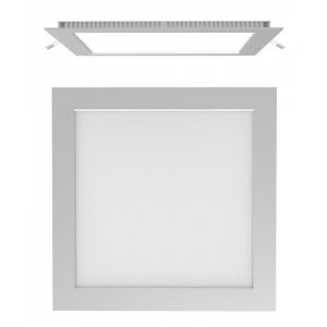 AIRCOM LED Cuadrado Empotrable Cromo Mate, 20W, 4000K, Secom 42235284