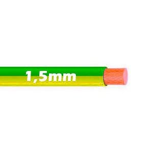 Cable Flexible 1.5mm Bicolor Tierra al corte