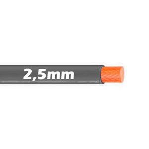 Cable Flexible 2.5mm Gris al corte