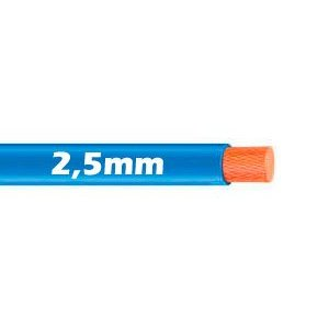 Cable Flexible 2.5mm Azul al corte