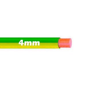 Cable Flexible 4mm Bicolor Tierra al corte