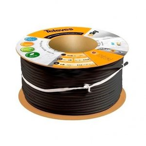 Cable Coaxial Negro T100 PLUS TELEVES 215501 (Rollo de 100 Metros)