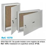 Caja superficie registro secundario ict 500x700x150. solera 1570
